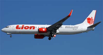 Boing 737 from Lion Air